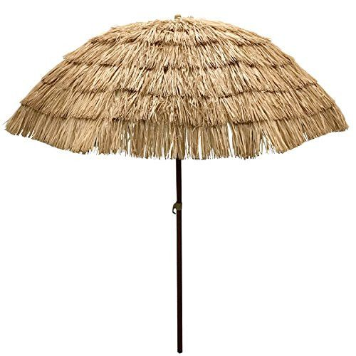 Lovely EasyGo   6.5u0027 Thatch Patio Tiki Umbrella   Tropical Palapa Raffia Tiki Hut  Hawaiian Hula