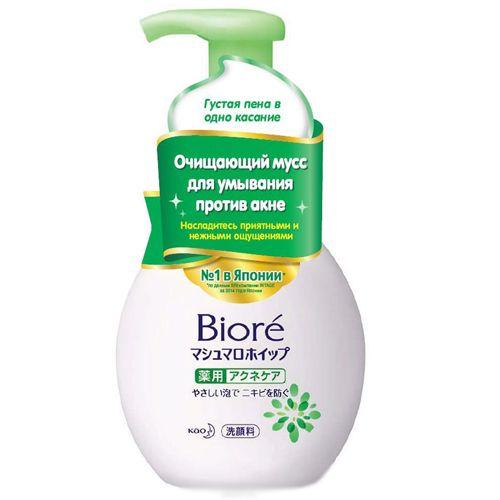 Очищающий мусс для умывания против акне. Просто нажмите и Вы получите густую пену, похожую на маршмеллоу. Насладитесь приятными и нежными ощущениями. Уникальная технология SPT от KAO гарантирует тщательное, но бережное очищение кожи. Имеет легкий свежий аромат зеленых цветов. Мусс выполняет 3 функции: Очищение от загрязнений - без повреждения; Помощь – увлажнение, питание, восстановление; Защита от вредного воздействия UV лучей. Biore Мусс для Умывания против акне, предотвращает закупо...