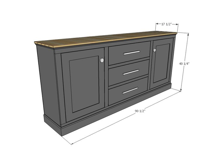Cabinet Plans Ana White | Build a Extra Long Buffet Cabinet | Free and Easy DIY Project and Fu...