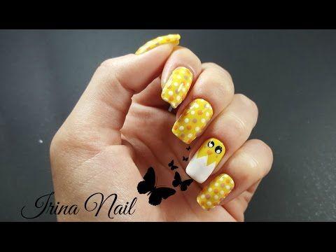 💅 Unghiuțe cu puișor în ou | Chicken nails | Irina Nail - YouTube