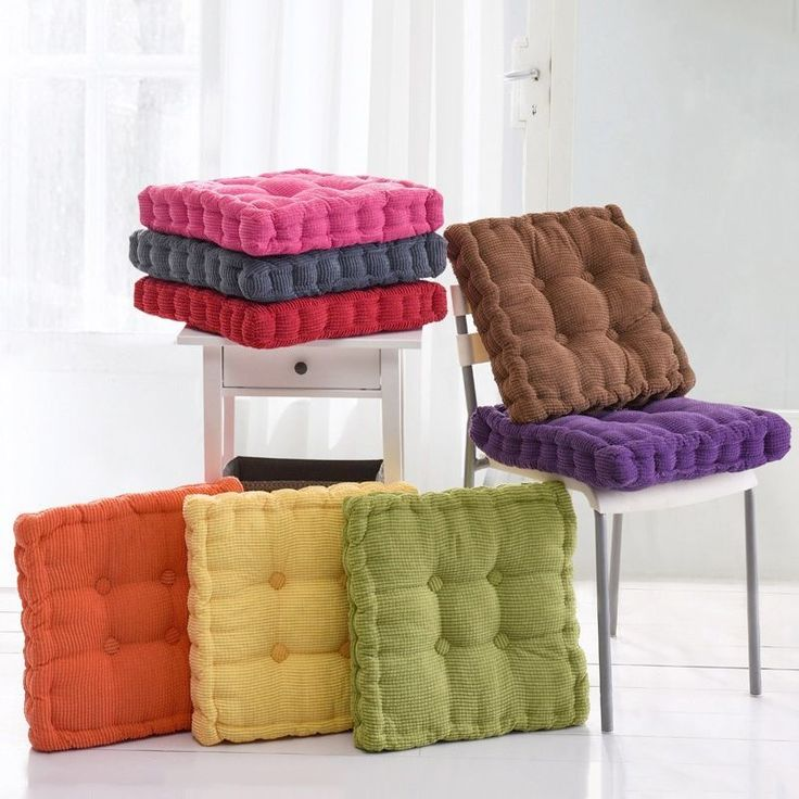 16 24 Aud Stylish Chair Pads Solid Color Thicken Warm