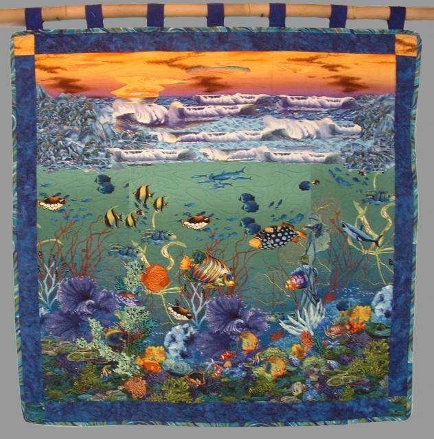 Quick Fuse Seascape Quilts Pattern landscape quilts Pinterest Quilt patterns, Quilt and ...