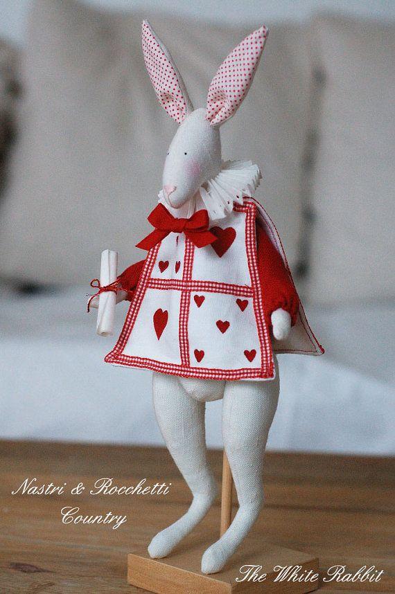 Alicia y el italiano de patrón blanco conejo por Bunnycottageshop