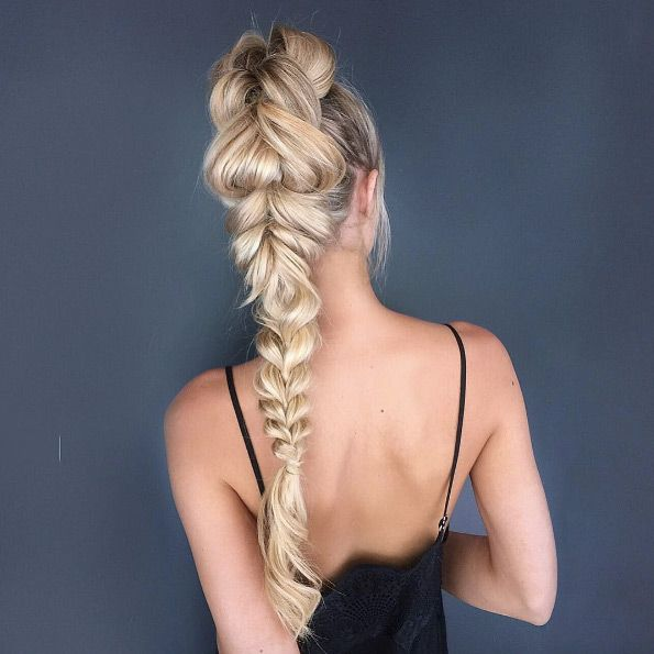 Braided high pony by Jacque Morrison