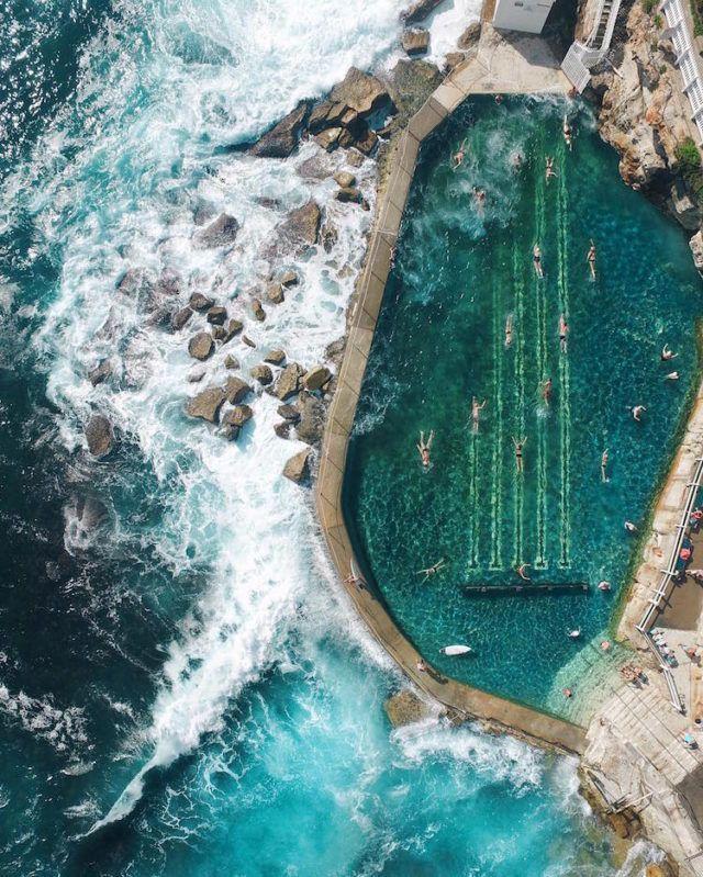 Mona Vale Beach, Sydney, Australia. Aerial photography by Gabriel Scanu