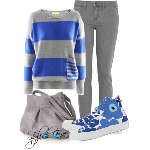 gris y azul