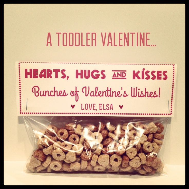 Toddler Valentine by Minnow & Co. Productions.: Kiss, Valentines Ideas, Toddlers Valentines, Valentines Cereal, Lucky Charms, Valentine'S S, Valentines 3, Pats Valentines, Holidays Valentines