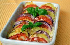Les recettes de Nathou: Tian de pommes de terre, tomates et oignons rouges...