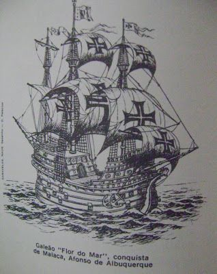 """Portuguese Galleon """"Flor do Mar"""" used during conquest of Malaca / Melaka 1511"""