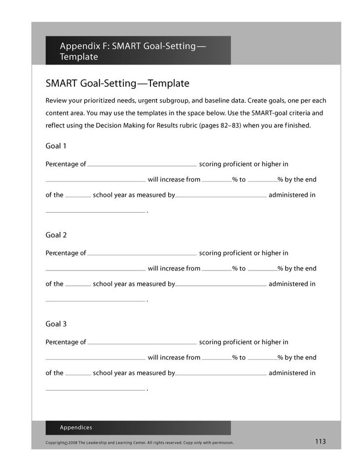 smarter goals template setting career with smart templates examples worksheets free