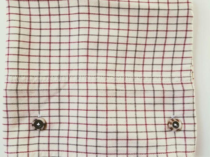 Bramble Tattersall Ralph Lauren Plaid Tan Cream Red Standard Pillowcase Buttons #RalphLauren