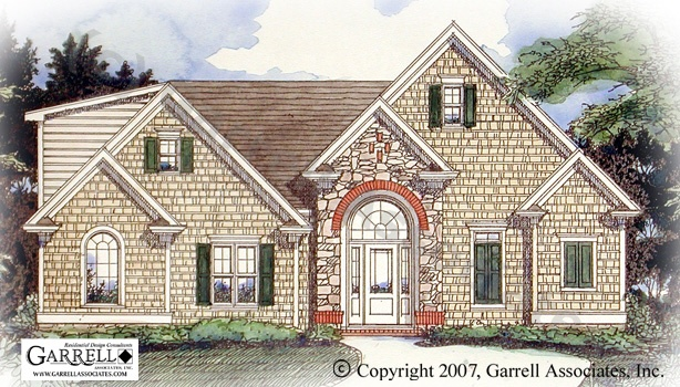Charleston House Plan # 98215, Front Elevation, Traditional Style House Plans, One Story House Plans, Ranch Style House Plans
