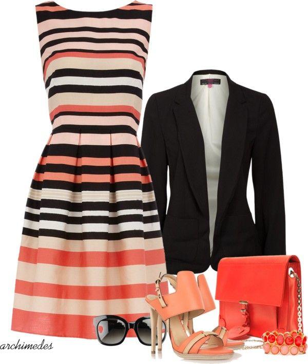 Love the dress - love the blazer, too!