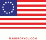 last 1 - applique Betsy Ross House Flag