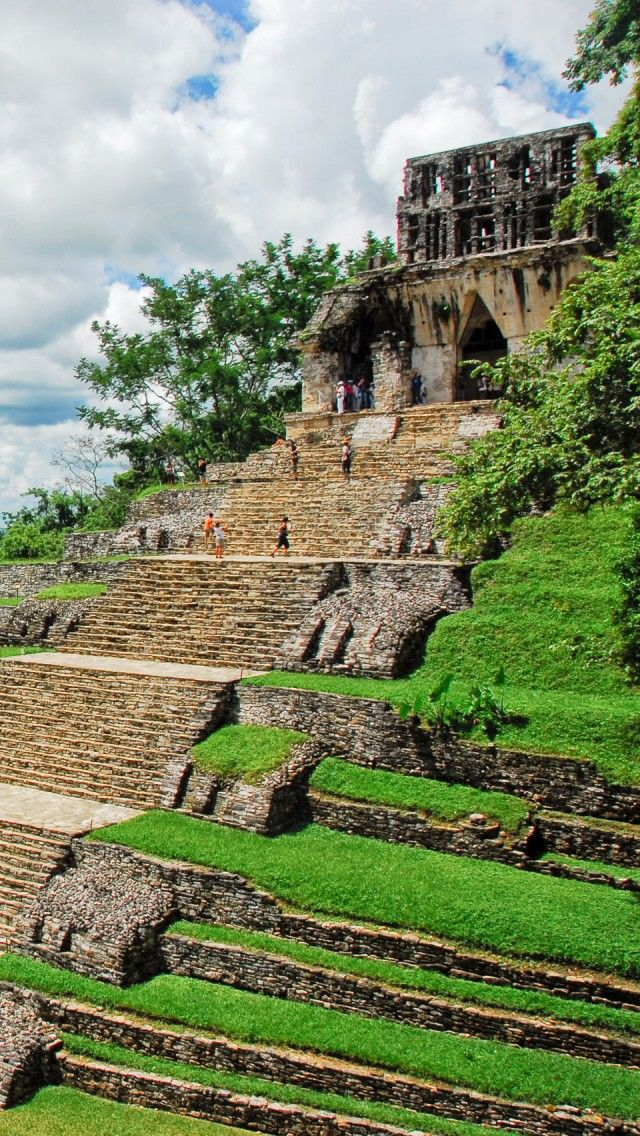 Temple de la Croix Feuillue du Site de Palenque, Chiapas, Mexico