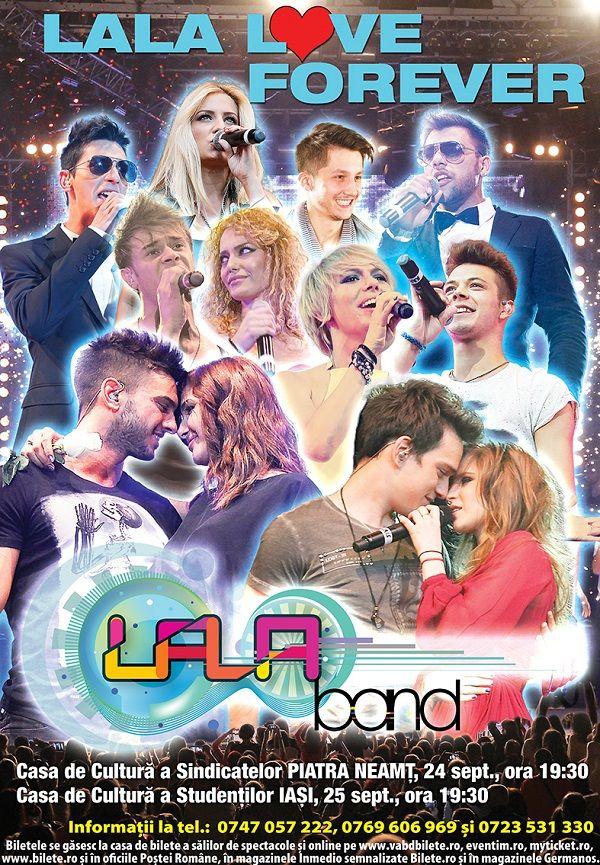 Concert LaLa Band în Iași pe 25 septembrie