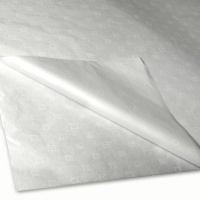 Luxurious White Printed Tissue Paper