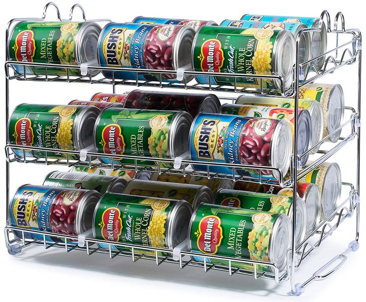 36 can rack organizer food storage kitchen pantry