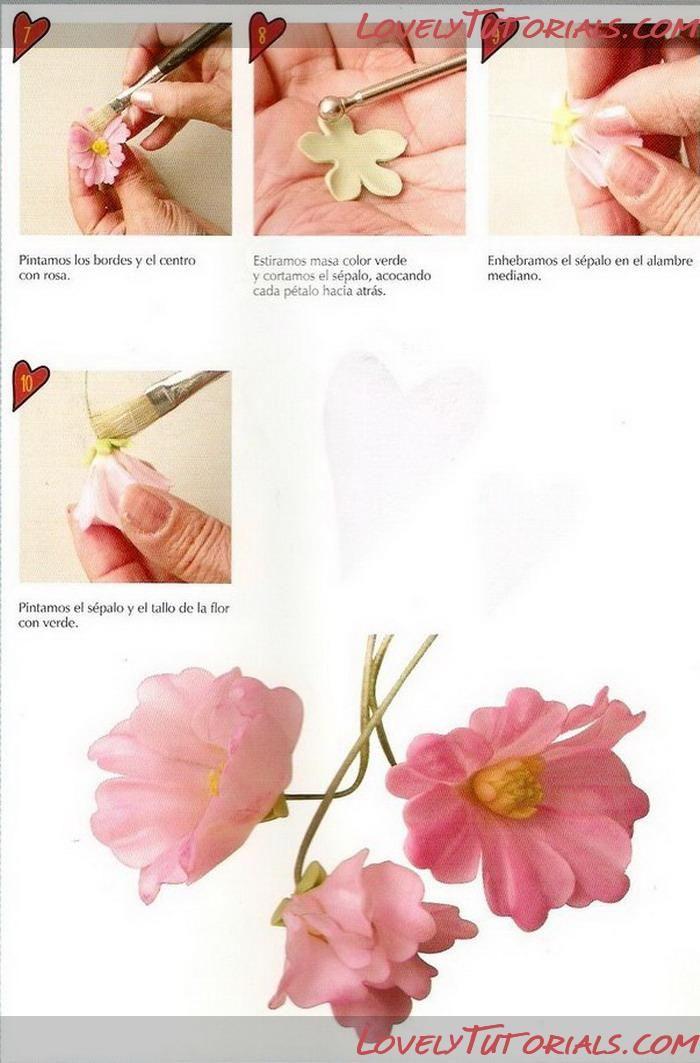 Калифорнийский мак (Эшшольция)-Gumpaste (fondant, polymer clay) California poppy (Eschscholzia californica) making tutorial