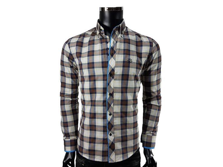 Koszula męska kratka - - Koszule męskie - Awii, Odzież męska, Ubrania męskie, Dla mężczyzn, Sklep internetowy