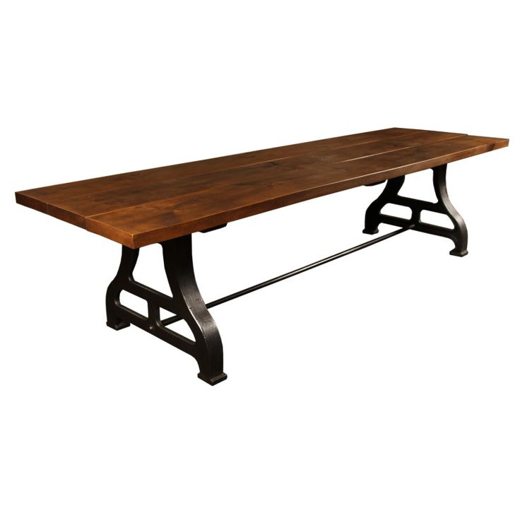 griffin reclaimed wood wrought iron rectangular fixed dining table and room sets wooden industrial tables modern