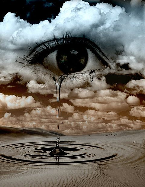 Tears flow down~