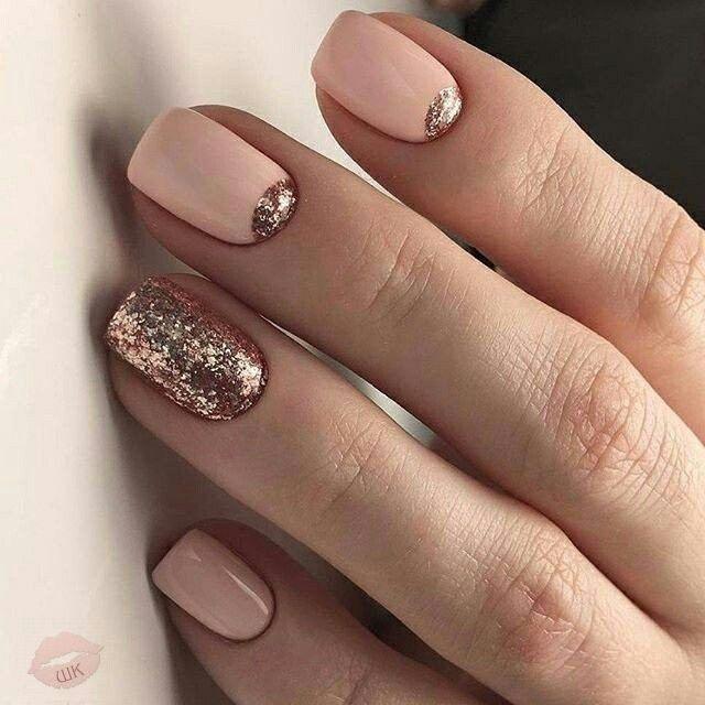 Pale pink copper nails