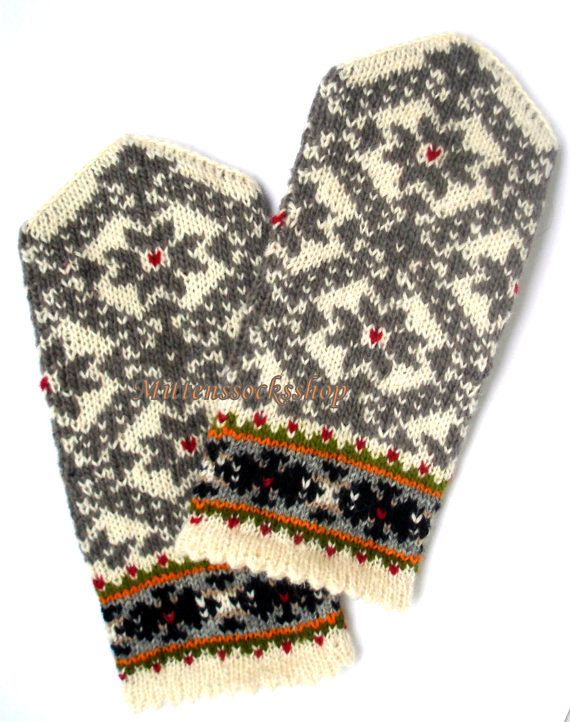 Hand knitted wool mittens- warm and stylish, great and colorful accessory in cold weather! Wonderful gift for your loved ones! Mittens size : S-big child or small female size M-medium size women L-large womens or mens size small XL- large men size XXL--very large size men CAN BE MADE IN ANY SIZE - When you make a purchase, drop me a line in the message to seller as to what size you would like. READY TO SHIP! Shipping time to USA, Canada and Australia usually is 10-14 days, or can be up ...