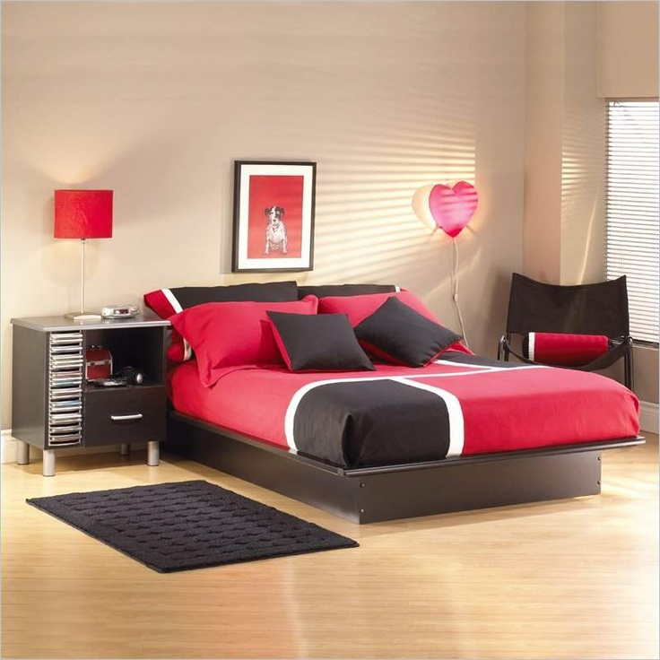 Swan Modern Platform Bed: 159 Best Images About Rooms In Red, Black, And White On