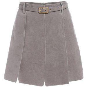 SheIn(sheinside) Grey Belt Suede Skirt