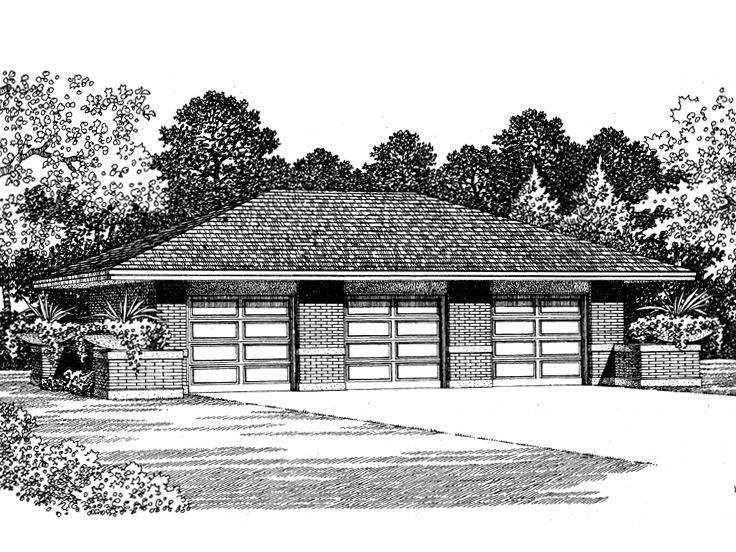 17 best images about 3 car garage plans on pinterest 3 for Hip roof garage plans