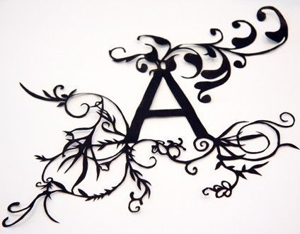 $25 Handcut paper letters for your home. I'm going to make this the sign on the door of my home- Apartment A