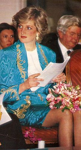 April 22, 1987: Princess Diana attending a fashion show at the Ritz Hotel, Madrid, Spain.