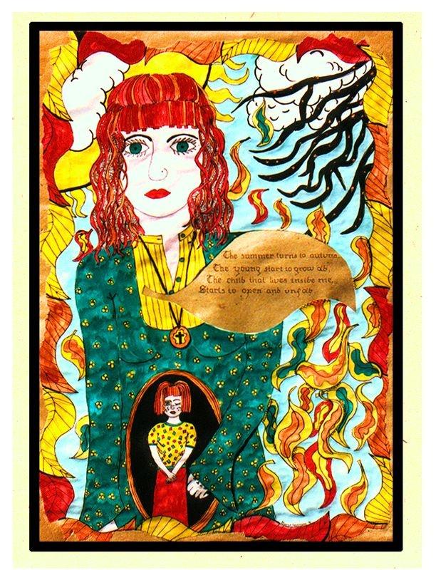 "Flying Margie - Art Work ""The child inside"" by Margie Thomas"