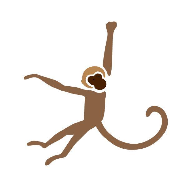 Monkey Stencil for Jungle Animal Mural on Baby Nursery Walls