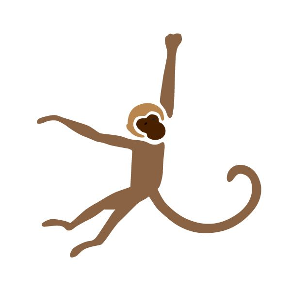 Monkey Stencil for Jungle Animal Mural on Baby Nursery Walls