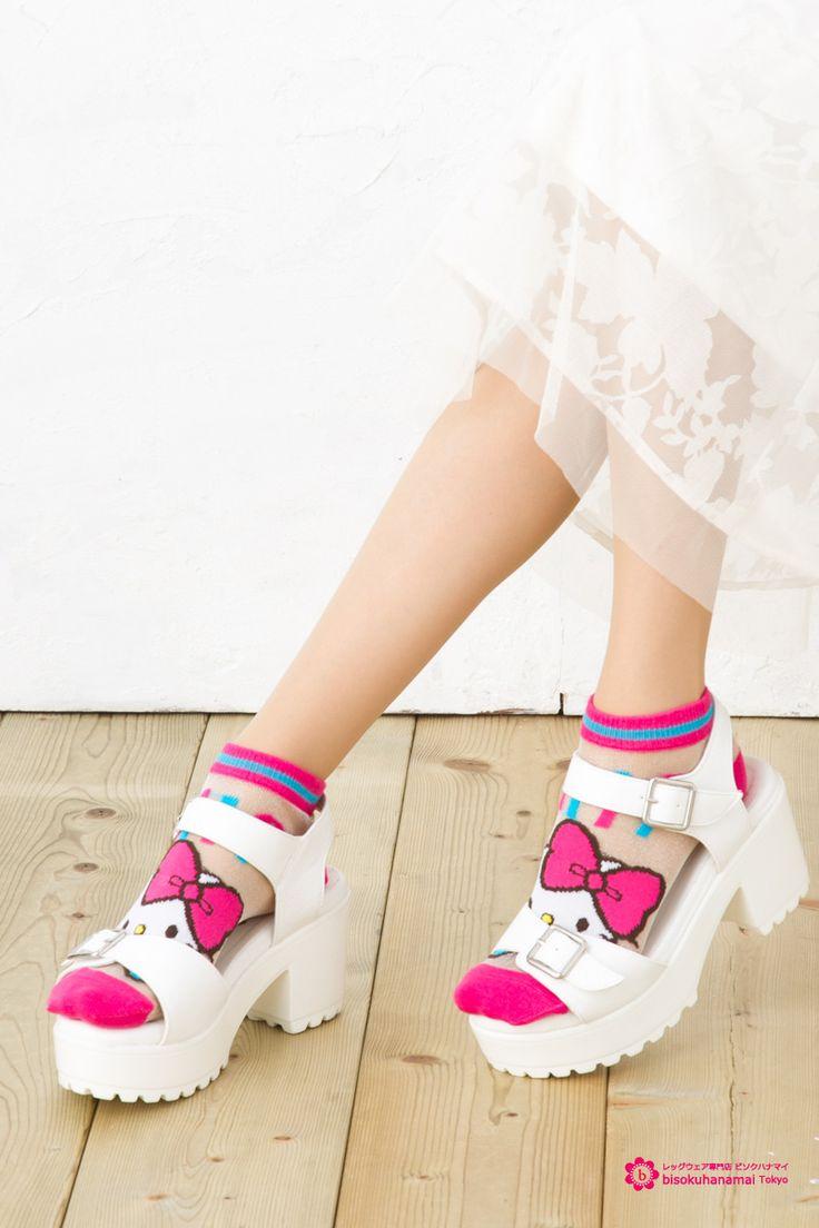 Hello Kitty Socks シースルーおすまし キティ ショートソックス