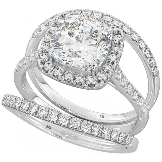 Always Be Mine Halo Cushion Cut CZ/ Sterling Silver Wedding Engagement Bridal Ring Set - Always Be Mine dazzling bridal rings https://www.besttohave.com/ Wedding & Engagement Rings for Women and Men. We sell wedding ring sets, wedding rings for bride, wedding rings for groom, unique wedding rings, silver wedding rings, titanium wedding rings, tungsten wedding rings, designer inspired silver jewellery, silver engagement rings, and top class cubic zirconia rings #WeddingRing #WeddingRings