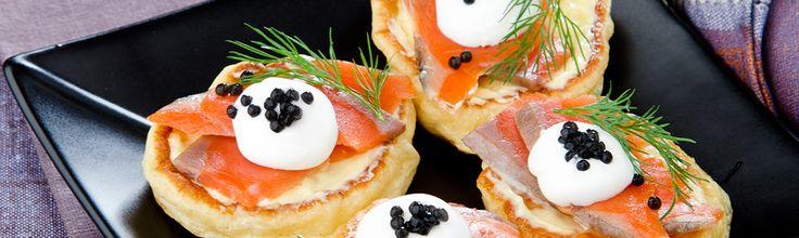 Polenta Cakes with Salmon & Caviar