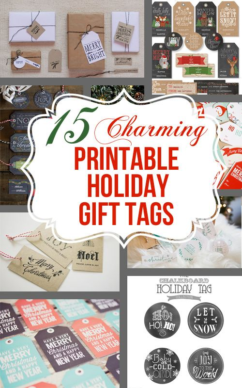 138 best printables images on pinterest natal christmas gift 15 charming free printable christmas tags negle Image collections