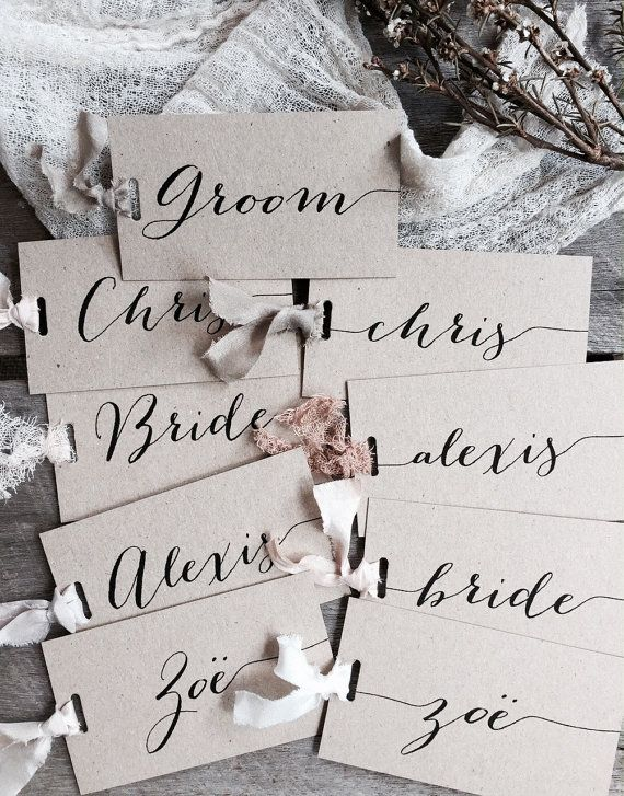 Wedding Place Cards Place Cards Place Card Name by LaPommeEtLaPipe