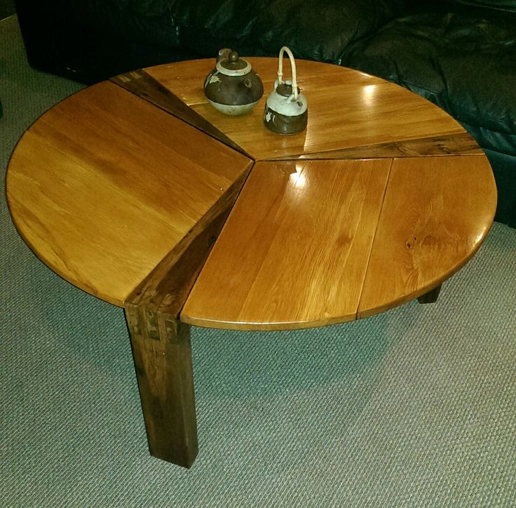 Coffee Table.   Three Jointed Legs.  Using scrapped rimu