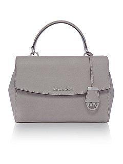 Ava grey medium satchel bag