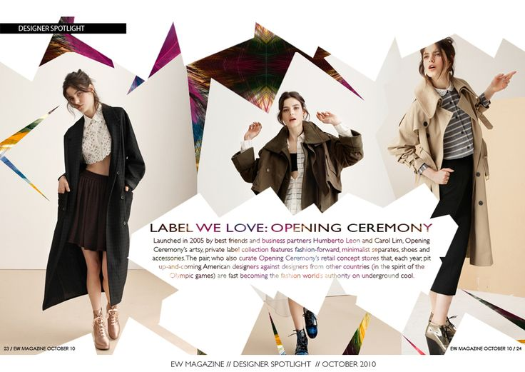 Fashion Magazine Layout | ... of one of LA's highest-end women's fashion boutiques