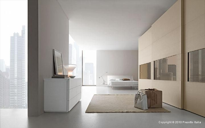 Love the wood shade, great warmer for an all-white room