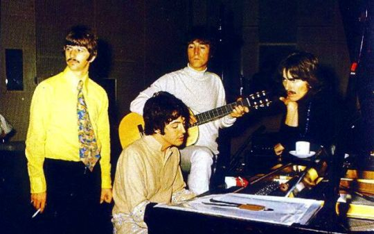 "The Beatles working on ""Yellow Submarine"" (1968)"
