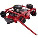 """Designed to dramatically reduce mowing time, The T2066 TrailMower attaches to your ATV, lawn tractor or other utility vehicle and short work of large lawns and fields with grass up to 6"""" in height.    The 66-inch mower deck is one of the largest in the industry. The floating design of the deck helps reduce scalping. Three blades work together to cut the grass neatly and evenly, and the side-discharge cutting deck spreads the grass clippings out to avoid clogging."""