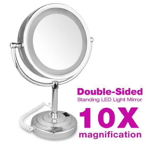 "Espejo 10X Ampliación 8.5"" Pulgadas - Doble Cara Iluminación LED para Cosmética Maquillaje Afeitar FLOUREON http://www.amazon.es/dp/B011B9QHEG/ref=cm_sw_r_pi_dp_Yh4Nwb1T1KVYW"