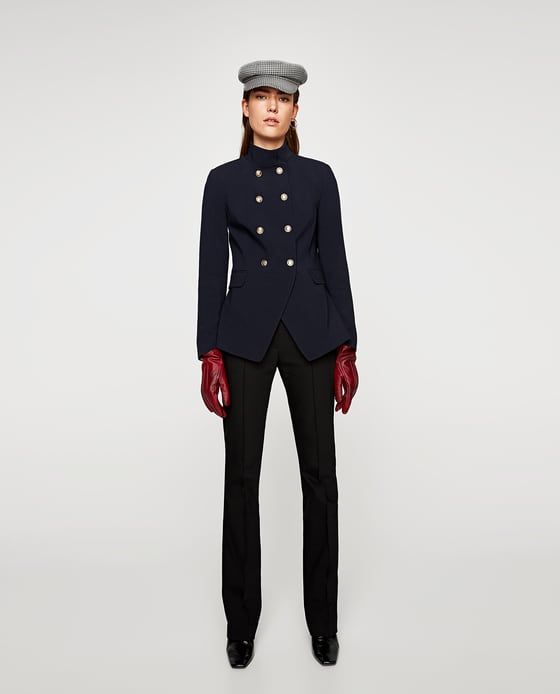Image 1 of DOUBLE-BREASTED MILITARY JACKET from Zara