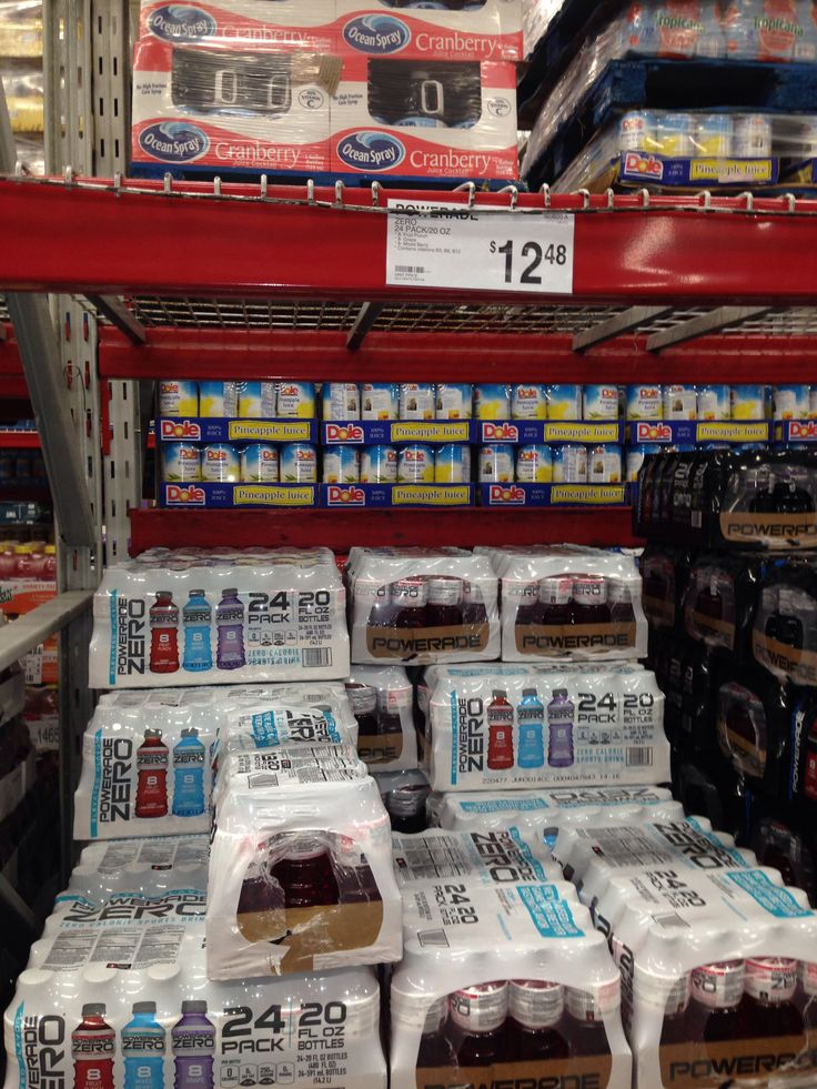 Powerade Zero Case | Sam's Club Grocery List | Pinterest ...